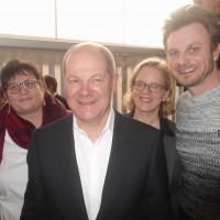Hanni Baur, Olaf Scholz, Natascha Kohnen und Patrik Beausencourt
